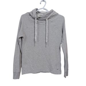 ONLY Grey Hoodie w/ High Side Slits Xs